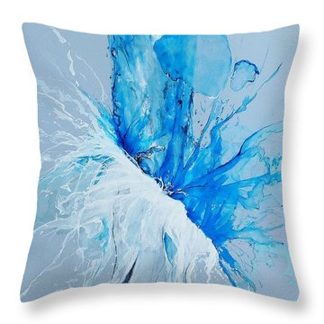 H2O Throw Pillow by Raymond Perez