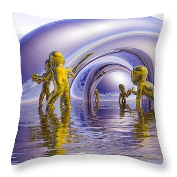 H2O Throw Pillow by Robby Donaghey