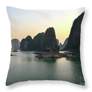 Ha Long Bay Throw Pillow