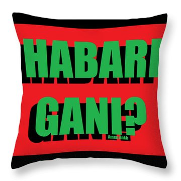 Habari Gani Throw Pillow