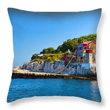 Habitat Throw Pillow by Graham Hawcroft pixsellpix