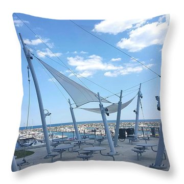 Habor View Throw Pillow