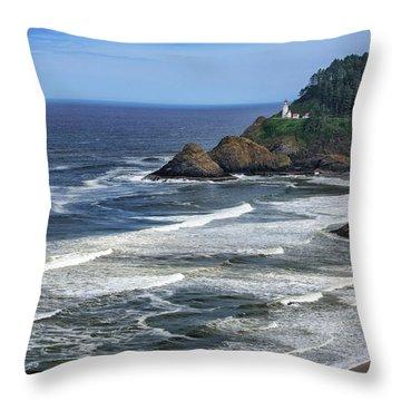 Haceta Lighthouse Throw Pillow