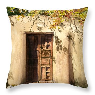 Hacienda Gate Throw Pillow