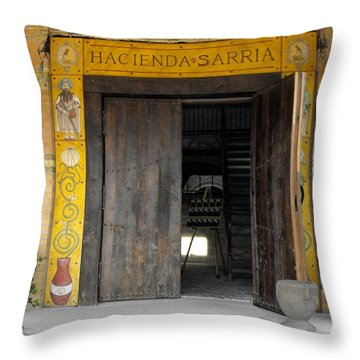 Hacienda Sarria Throw Pillow by David and Lynn Keller