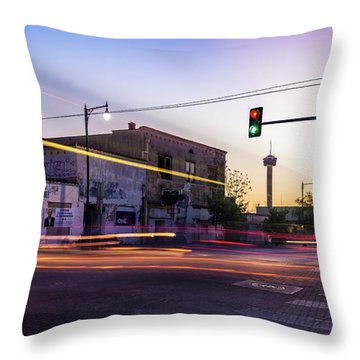 Hackberry And Commerce Throw Pillow by Micah Goff