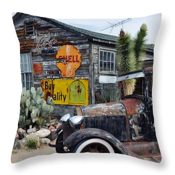 Hackberry Route 66 Auto Throw Pillow