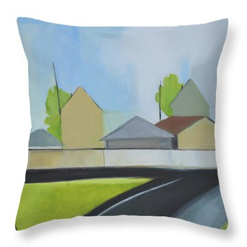 Hackensack Exit Throw Pillow