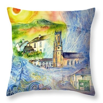 Hacketstown- Aide Memoire  Throw Pillow by Trudi Doyle