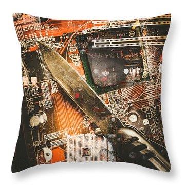 Motherboard Throw Pillows