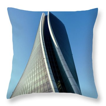 Hadid Tower, Milan, Italy Throw Pillow