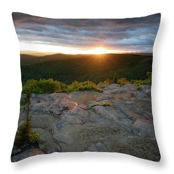 Hadley Mountain Sunset Throw Pillow