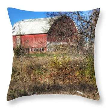 0016 - Hadley Red I Throw Pillow