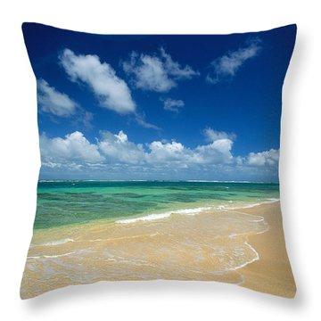 Haena Beach Throw Pillow by Greg Vaughn - Printscapes
