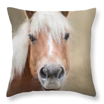 Throw Pillow featuring the photograph Haflinger by Robin-Lee Vieira