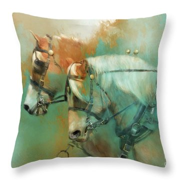 Haflinger Team Throw Pillow