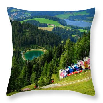 Hahnenkamm - Kitzbuehel Throw Pillow