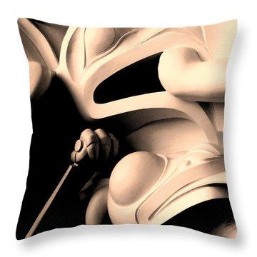 Haida Two Throw Pillow by Ian  MacDonald