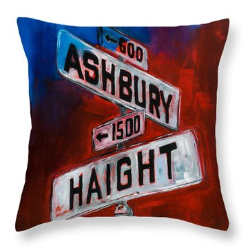 Haight And Ashbury Throw Pillow by Elise Palmigiani