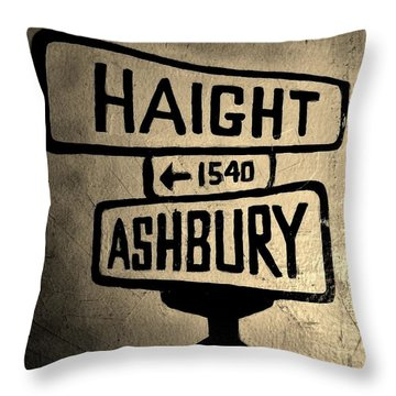 Haight Ashbury Throw Pillow