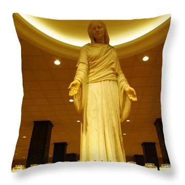 Throw Pillow featuring the photograph Hail Mary Full Of Grace...amen by John S