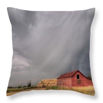Hail Shaft And Montana Barn Throw Pillow