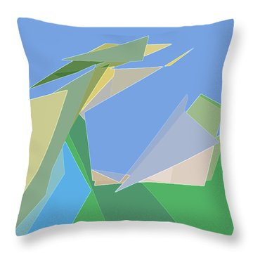 Throw Pillow featuring the digital art Hailing A Taxi by Gina Harrison