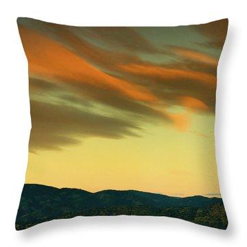 Throw Pillow featuring the photograph Hailing The Sky by John De Bord