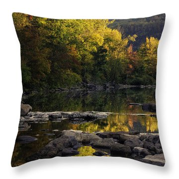 Hailstone Sunrise Fall Color 2012 Throw Pillow