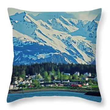 Haines - Alaska Throw Pillow by Juergen Weiss