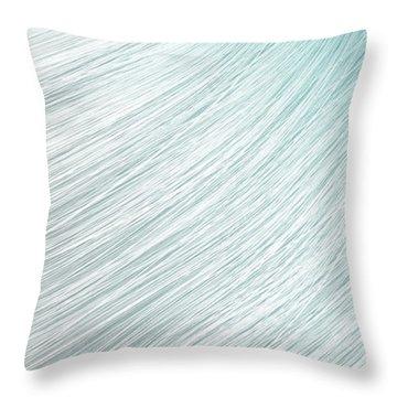 Hair Blowing Closeup Throw Pillow