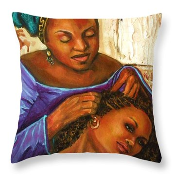 Hair Braiding Throw Pillow