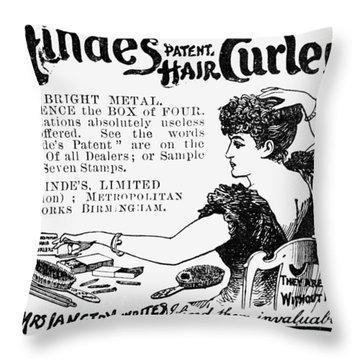 Hair Curler, 1892 Throw Pillow