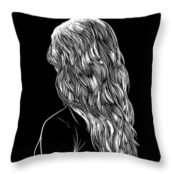 Hair Style Throw Pillows
