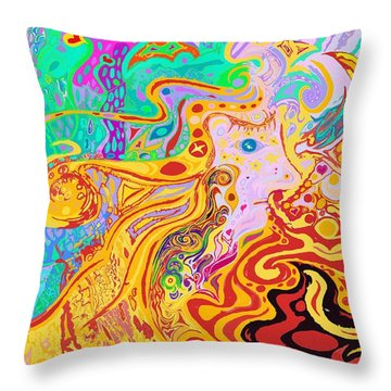 Hair Of The Divine Universe Throw Pillow