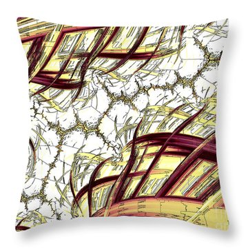 Hairline Fracture Throw Pillow