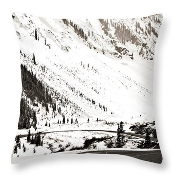 Hairpin Turn Throw Pillow by Marilyn Hunt