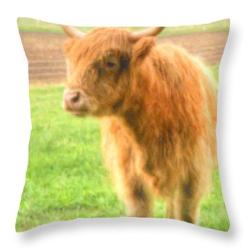 Hairy Coos Throw Pillow