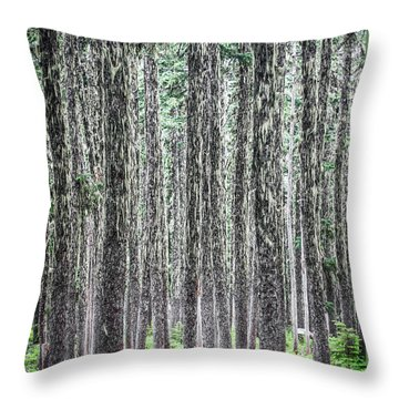 Hairy Forest Throw Pillow