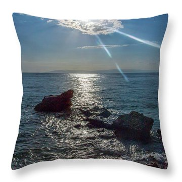 Haitian Beach In The Late Afternoon Throw Pillow