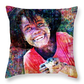 Haitian Daughter Throw Pillow
