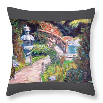 Hakone Throw Pillow by Carolyn Donnell