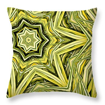 Throw Pillow featuring the digital art Hakone Grass Kaleido by Peter J Sucy
