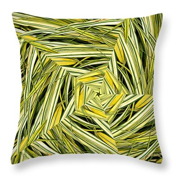 Throw Pillow featuring the digital art Hakone Pinwheel by Peter J Sucy