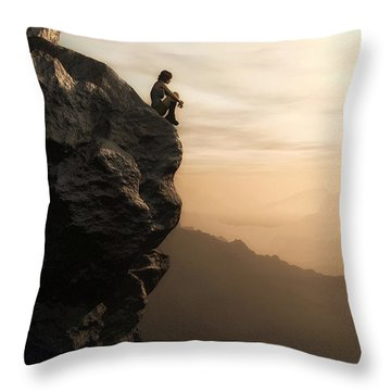 Halcyon Throw Pillow by Cynthia Decker