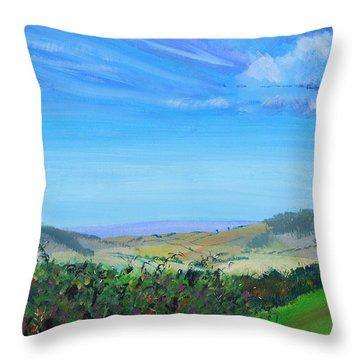 Haldon Hills Sea View Throw Pillow