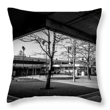 Hale Barns Square As It Used To Be Throw Pillow