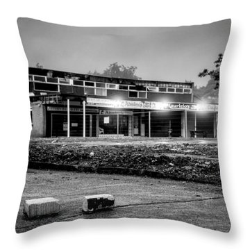 Hale Barns Square - Demolition In Progress Throw Pillow