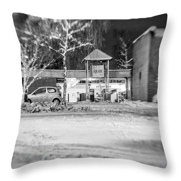 Hale Barns Square In The Snow Throw Pillow