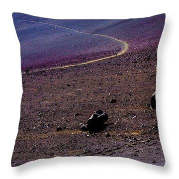 Throw Pillow featuring the photograph Haleakala 2 by M G Whittingham
